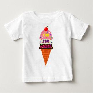 かわいいアイスクリームのTシャツ ベビーTシャツ