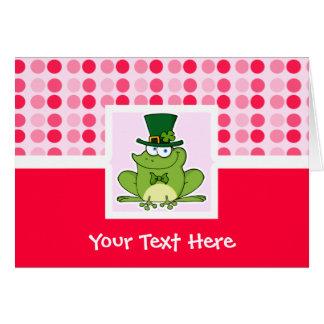 かわいいアイルランドのカエル カード