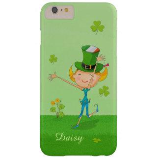 かわいいアイルランドの女の子の緑の幸運なシャムロックのクローバー BARELY THERE iPhone 6 PLUS ケース