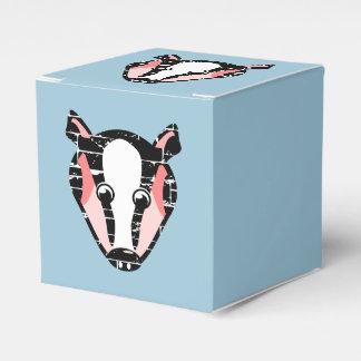 かわいいアナグマの顔 フェイバーボックス