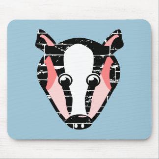 かわいいアナグマの顔 マウスパッド