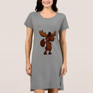 かわいいアメリカヘラジカの漫画の振ること ドレス