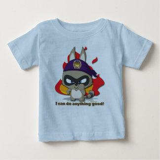 かわいいアライグマのおもしろいなティーのマンガのキャラクタのTシャツ ベビーTシャツ