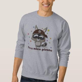 かわいいアライグマのおもしろいな漫画のかわいいの海賊Tシャツ スウェットシャツ