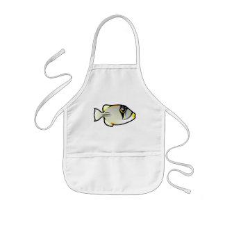かわいいアラビアのPicassofish 子供用エプロン