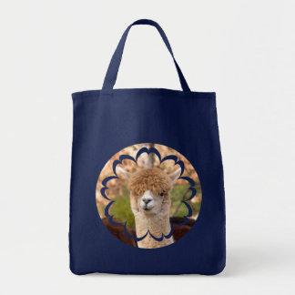かわいいアルパカの食料雑貨のトートバック トートバッグ