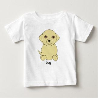かわいいイエロー・ラブラドール・レトリーバー犬は個人化なります ベビーTシャツ