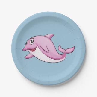 かわいいイルカの紙皿 ペーパープレート