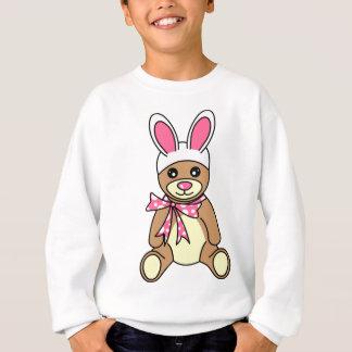かわいいイースターのウサギの耳のテディー・ベア スウェットシャツ