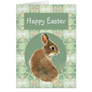 かわいいウサギとの聖なる書物、経典のイースター挨拶 カード
