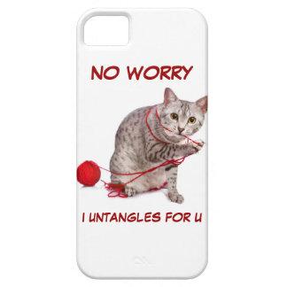 かわいいエジプト人のMau猫の助けはヤーンを解きます! iPhone SE/5/5s ケース