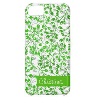 かわいいエメラルドグリーンの秋の果実 iPhone5Cケース