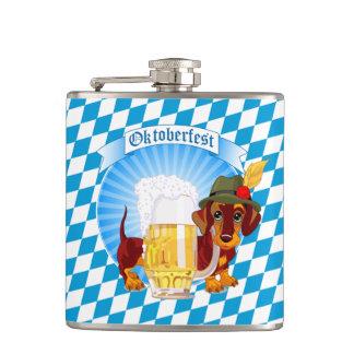 かわいいオクトーバーフェストビール猟犬 フラスク