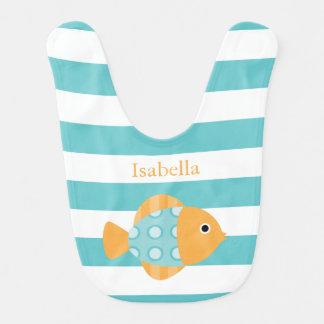 かわいいオレンジおよび水の魚 赤ちゃんスタイ