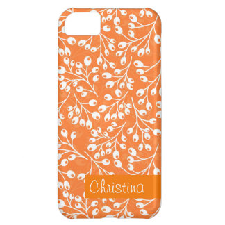 かわいいオレンジおよび白い秋の果実 iPhone5Cケース