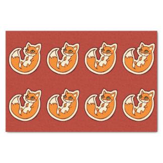 かわいいオレンジキツネの白い腹スケッチのデザイン 薄葉紙