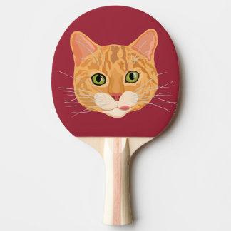 かわいいオレンジ猫の顔 卓球ラケット
