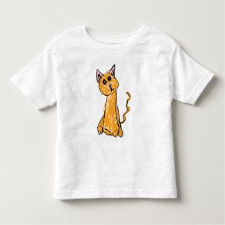 かわいいオレンジ猫のTシャツ トドラーTシャツ