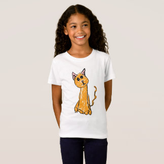 かわいいオレンジ猫のTシャツ Tシャツ