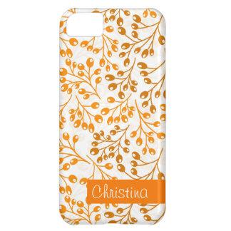 かわいいオレンジ秋の果実 iPhone5Cケース