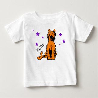 かわいいオレンジ虎猫猫 ベビーTシャツ