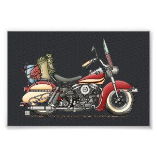 かわいいオートバイ フォトプリント