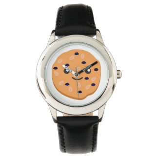 かわいいオートミールの干しぶどうクッキー 腕時計