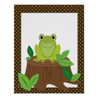 かわいいカエルの子供部屋の芸術 ポスター