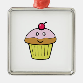 かわいいカップケーキ メタルオーナメント