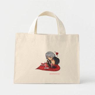 かわいいカップルのバッグ ミニトートバッグ