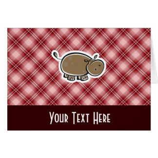 かわいいカバ; 赤い格子縞 カード