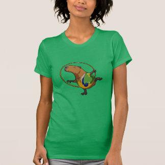 かわいいカピバラの新体操のたがの漫画 Tシャツ