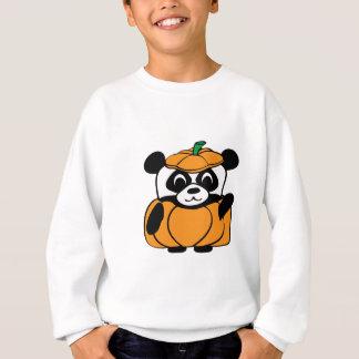 かわいいカボチャ衣裳のパンダ スウェットシャツ