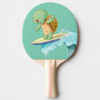 かわいいカメのサーフィンのかわいいの卓球ラケット 卓球ラケット