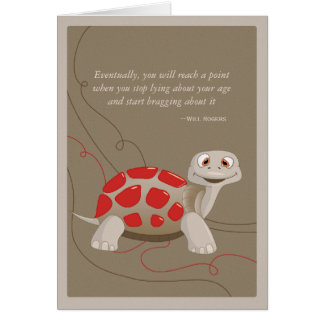 かわいいカメのハッピーバースデーカード カード