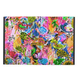 かわいいカラフルの抽象芸術の混合されたペーズリーの花 POWIS iPad AIR 2 ケース