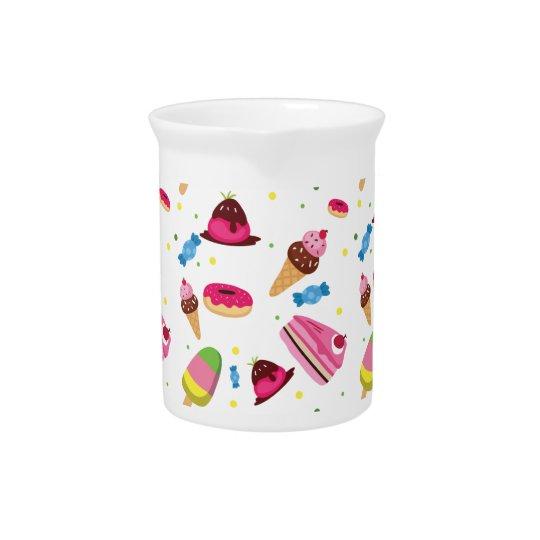 かわいいキャンデーおよび菓子によって着色されるパターン ピッチャー
