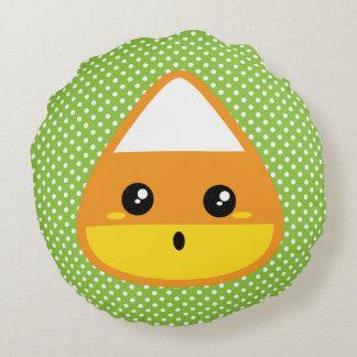 かわいいキャンデートウモロコシの円形の枕 ラウンドクッション