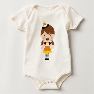 かわいいキャンデートウモロコシの女の子の衣裳 ベビーボディスーツ