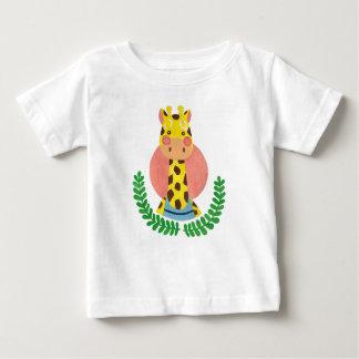 かわいいキリン ベビーTシャツ