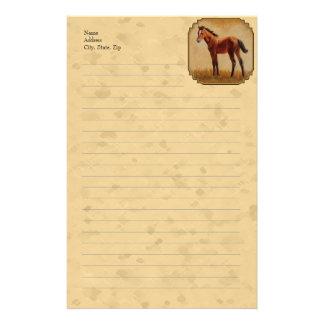 かわいいクォーター馬の子馬の黄色 便箋