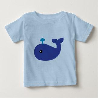 かわいいクジラの乳児のTシャツ ベビーTシャツ