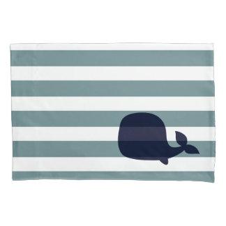 かわいいクジラの海洋動物の航海のな海の子供部屋の装飾 枕カバー
