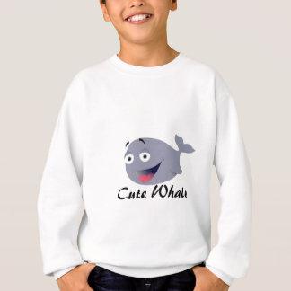 かわいいクジラのTシャツ衣類及び服装 スウェットシャツ