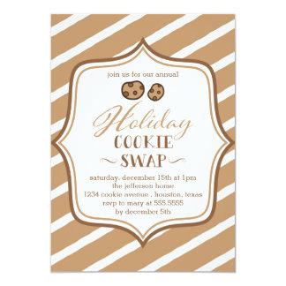 かわいいクッキーの交換の休日のパーティの招待状 カード