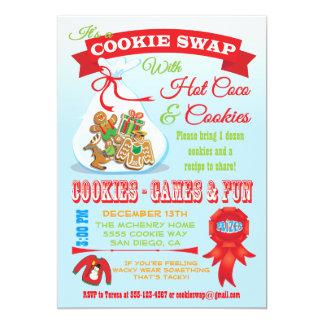 かわいいクッキー交換交換の招待状 カード