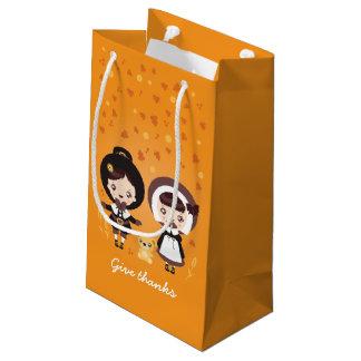 かわいいクララ-感謝祭 スモールペーパーバッグ