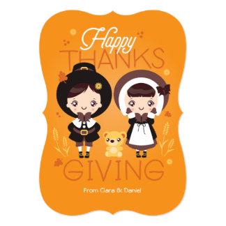 かわいいクララ-感謝祭 12.7 X 17.8 インビテーションカード
