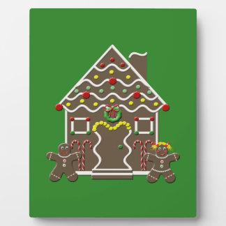 かわいいクリスマスのお菓子の家 フォトプラーク