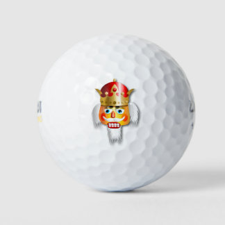 かわいいクリスマスのくるみ割り王 ゴルフボール
